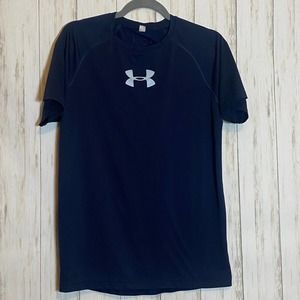 Under Armour Dry Fit Tee Navy Blue Mens Small